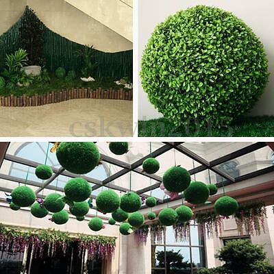 35cm Plastic Green Conifer Topiary Ball Grass Boxwood Hanging Garden Decoration