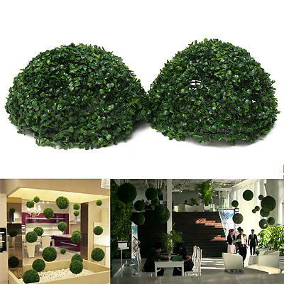 Plastic Topiary 28cm Leaf Effect Ball grass Hanging Home Garden Decoration