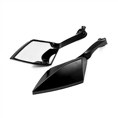 Universal Alloy Aluminium Black 8/10mm Motorcycle Scooter Rear View Mirrors Pair