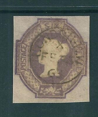 GB 1847 Embossed 6d. SG 60 fine used 4 large margings and inverted watermark