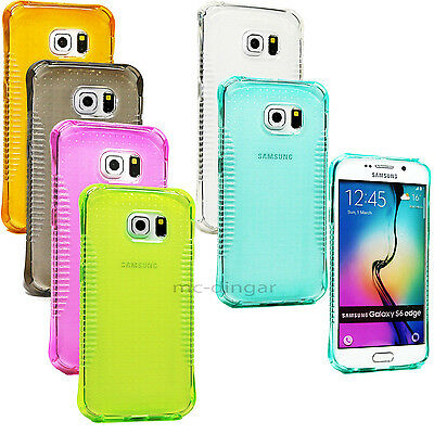 Ultra-Thin Transparent TPU Shockproof Armor Case Cover For Samsung Galaxy S6Edge