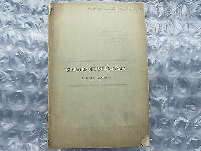 Antique Booklet 1889 Glaciation of Eastern Canada by Robert Chalmers