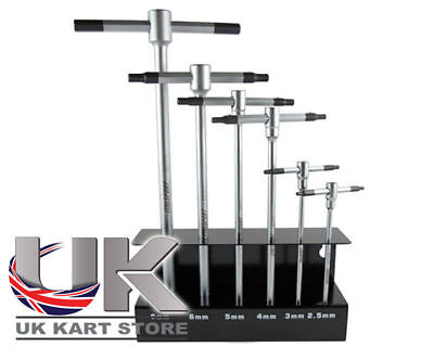 Carbon Steel Forged T-Bar Set 2.5, 3, 4, 5, 6, 8mm with Rack UK KART STORE