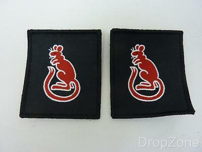 Pair of Desert Rats 7th Armoured Brigade Shoulder Badge Patch, British Military