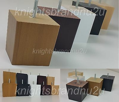 4x Solid Wood Replacement Furniture Legs Feet Sofa Chairs Settee