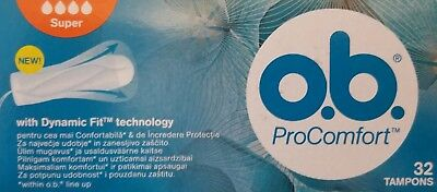 O.B. PRO COMFORT Tampons 32 PCS NORMAL / SUPER the best protection night and day