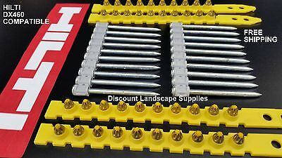 GFS - HILTI DX460 Comp 2500 x YELLOW CHARGES + 2500 x 62mm COLLATED NAILS / PINS