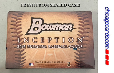 2015 Bowman Inception HOBBY Box 5 Auto/Relic Logo/Tag/Book/Patch Kris Bryant RC?