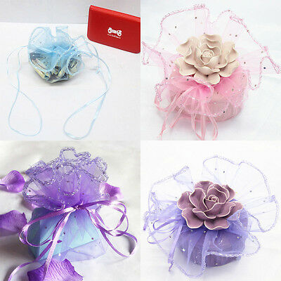 20/100PCS Sequins Round Organza Jewelry Packing Pouch Wedding Favor Gift Bags