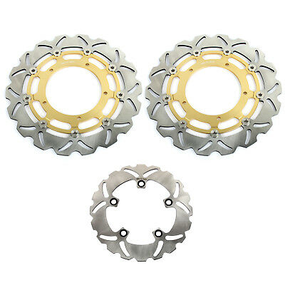 Front Rear Brake Disk Discs Rotor UK Set For Yamaha YZF R1 1000CC 2004 2005 2006