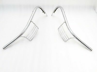 Vespa Px Lml Star Stella Front Indicator Chrome Grill Protector Set @justroyal