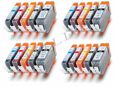 KIT 20 Cartucce per Canon CLI 551XL PGI 550XL Pixma MG7550 MG5650 MG6650 iP8750