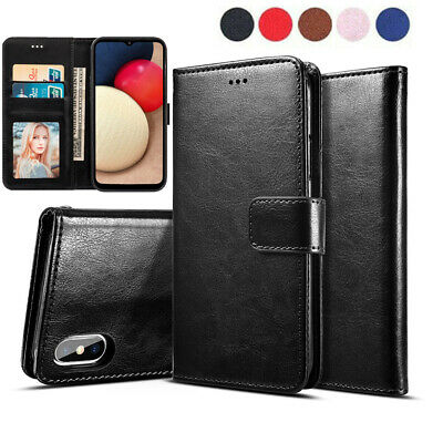Genuine Leather Flip Wallet Case Cover For Samsung Galaxy S3 S4 S5 S6 S7 S8 S9