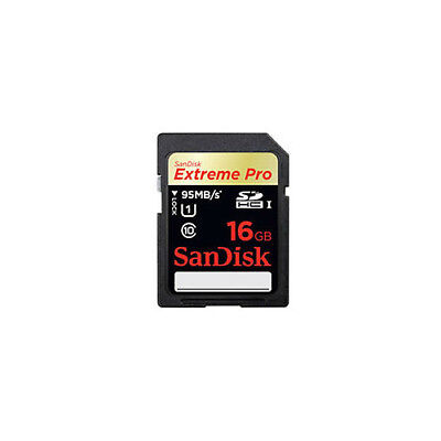 SanDisk 16GB Extreme Pro SD SDHC Memory Card UHS1 95MB/s New For digital Camera