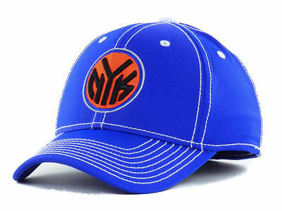 fdc601a8850 New Authentic Adidas New York Knicks NBA Team Flex Fitted Hat SM MED L