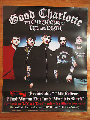 "2004 GOOD CHARLOTTE ""The Chronicles Life & Death"" Concert Tour Poster"