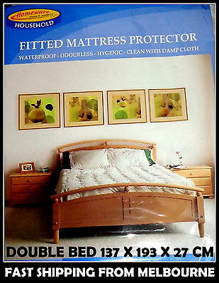 DOUBLE Bed Fitted Waterproof Mattress Protector Odourless Hygienic Free Shipping