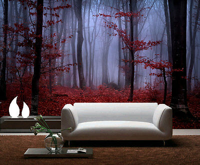 Mystical Forest Foggy Foliage Full Wall Mural Photo Wallpaper Print Home Dec Kid