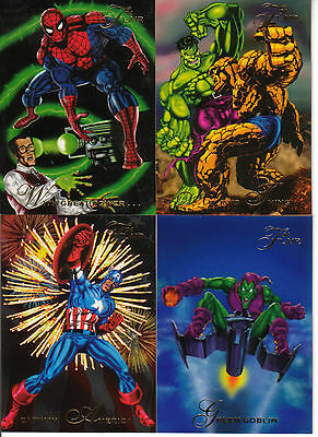 Cards 76 to 150 - 1994 Flair Marvel Card Set !