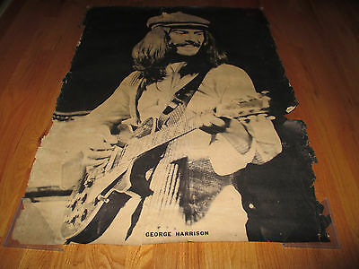 Vintage 60s GEORGE HARRISON of the BEATLES Poster