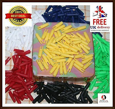 25 spare nocks 5.5 mm hunting target arrow nocks 6 Colours PACK OF 25 PIECES///