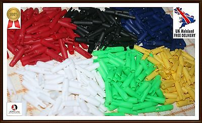 25 spare nocks 5.5 mm hunting target arrow nocks 6 Colours PACK OF 25 PIECES