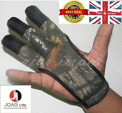 Archers Camouflage Shooting 3 Fingers Glove Top Quality Glove