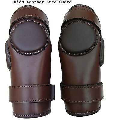 Polo/Ridding Knee Guards Leather and Padded For Kids-8to15 year age Ladies size