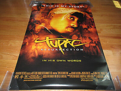 "2003 TUPAC SHAKUR ""This is my Story - RESURRECTION"" Poster"