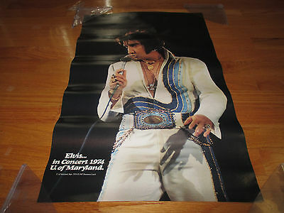 Vintage 1987 ELVIS PRESLEY in Concert Personality Magazine Collage Poster
