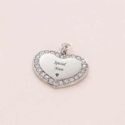 Mum Charm, Gift for Special Mum. Can be Personalised with Engraving!
