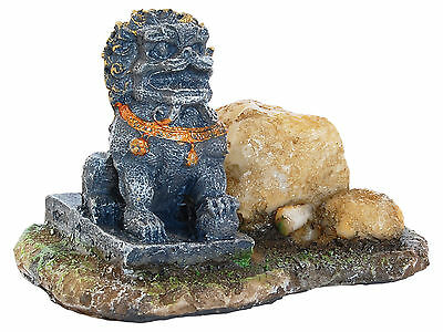 Lion with Stone Aquarium Ornament Fish Tank Decoration
