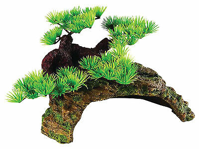 Bonsai with Rock Cave Reptile Terrarium Vivarium Ornament Decoration