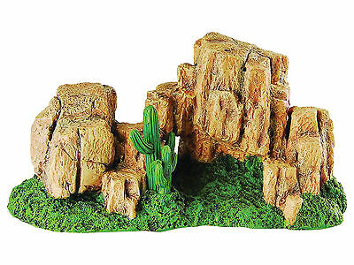 Rock Hill with Moss Reptile Terrarium Vivarium Ornament Decoration