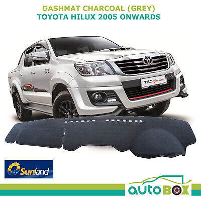 Toyota Hilux March 05-Aug 15 All Models Charcoal DashMat Dash Cover Sunland Mat
