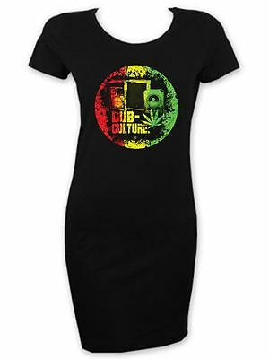 01516122 Dub Culture Reggae Womens' T-shirt Dress - Bob Marley Rasta Festival
