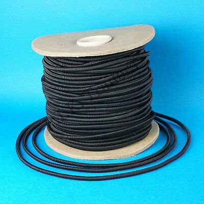 8 Metres 6mm BLACK Elastic Bungee Shock Cord Rope for Trailer Covers
