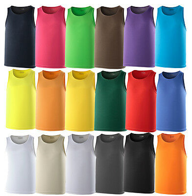 MENS AWDis COOL VEST, SPORTS RUNNING TOP, T-SHIRT, WICKABLE, BREATHABLE,TRAINING