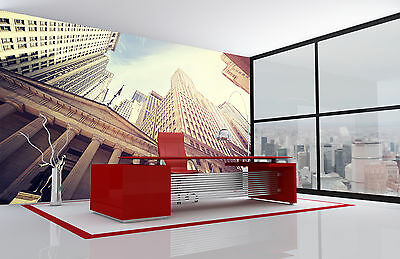 Wall Street at Sunset Wall Mural Photo Wallpaper GIANT DECOR Paper Poster