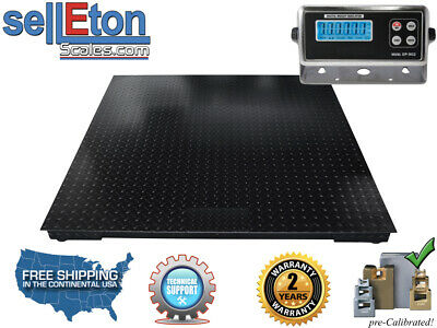 "Industrial 40"" x 40"" Floor Scale / Pallet Scale with Metal Indic. 10000 lb x 1"