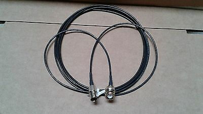 US MADE  BNC plug  TO  BNC   jack  RG-174  coax  cable  6  ft   50 ohm
