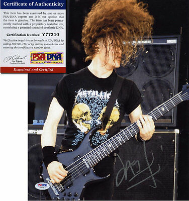 "JASON NEWSTED - METALLICA - Hand Signed 11x14 "" Photo - PSA/DNA - UACC RD #289"