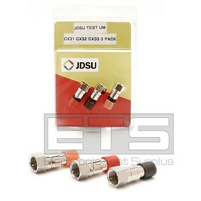 Test Um JDSU CX200 Coax Mapper 1x CX32 Red CX33 Orange CX31 Brown Terminator Set