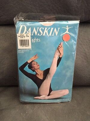 Danskin 85 Women's Size C (Large) Theatrical Pink Footed Tights Seamed New