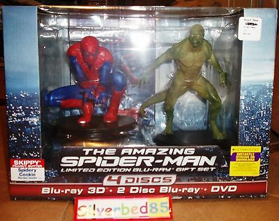 The Amazing SPIDER-MAN 3D 2D Blu-ray Dvd LIMITED EDITION Figurine 4-Disc Set oop