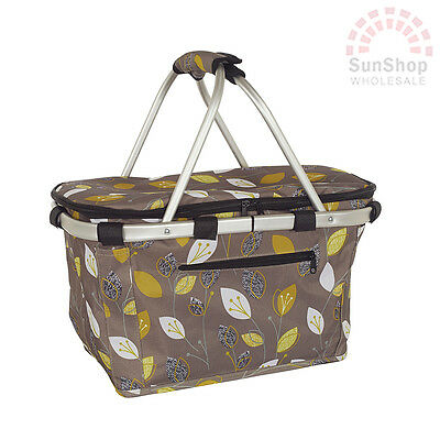 100% Genuine! D.LINE Shop & Go Insulated Cooler Carry Basket with Lid Leaf!