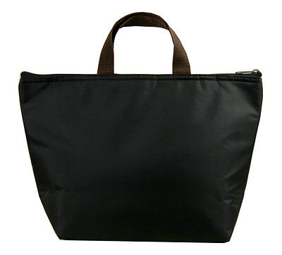 Black Insulated Tote Thermal Bag Lunch Bag/Lunch Box/Picnic Bag