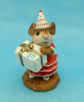 PARTY GIRL by Wee Forest Folk, M-224, RED Curio Cabinet 10 Store Special