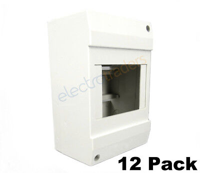 4 Pole Cover Enclosure for Switchboard Circuit Breakers, RCD,MCB, RCBOs 12 Pack