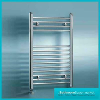 400mm Chrome Radiator Straight Heated Bathroom Towel Rail Rad Radiator